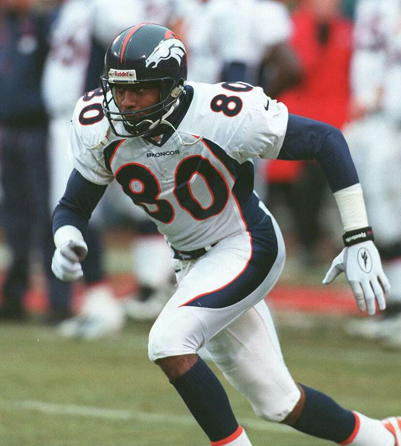 Denver Broncos: WR Rod Smith, Missouri Southern. Holds club records for catches (849), yards receiving (11,389) and TD receptions (68) during 12-year career. His career catch and yardage totals are the most among undrafted players in NFL history.   PHOTO: Smith in action in the AFC Divisional playoff game against the Kansas City Chiefs on Jan. 4, 1998. Photo: Ron Heflin, Associated Press File Photo / 1998 AP