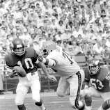 Cincinnati Bengals: DL Coy Bacon, Jackson State. Three-time Pro Bowler who also played for the Rams, Chargers and Redskins, Bacon had his two best years — 1976-77 — in a Bengals uniform as part of a dominant 14-year career. PHOTO: Minnesota Vikings quarterback Fran Tarkenton (10) tries to elude the grasp of Bacon (79) during a game on Sept. 3, 1977, at Riverfront Stadium in Cincinnati.