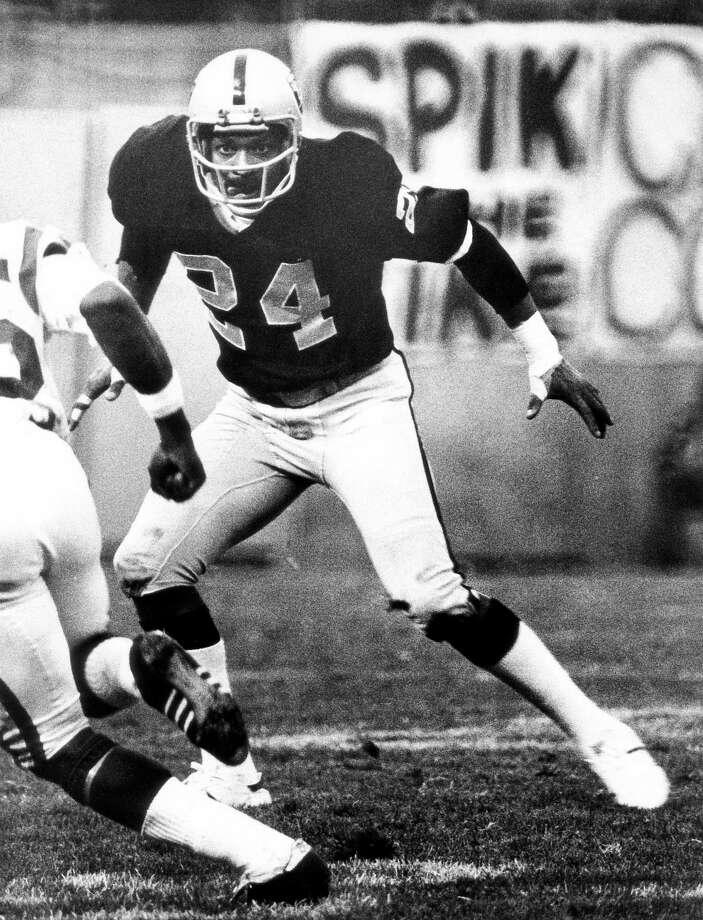 Oakland Raiders: DB Willie Brown, Grambling State. The 9-time Pro Bowler and 5-time All-Pro originally signed in 1963 with the Houston Oilers, who cut him in training camp. He joined the Broncos, who traded him to Raiders in '67. He had 54 interceptions and was inducted into the Hall of Fame in 1984.  PHOTO: Brown shadows a receiver during a 35-13 victory over the Minnesota Vikings on Dec. 11, 1977, at the Oakland-Alameda Colesium in Oakland, Calif. Photo: Arthur Anderson, Getty Images / ?Arthur Anderson/NFL Photos