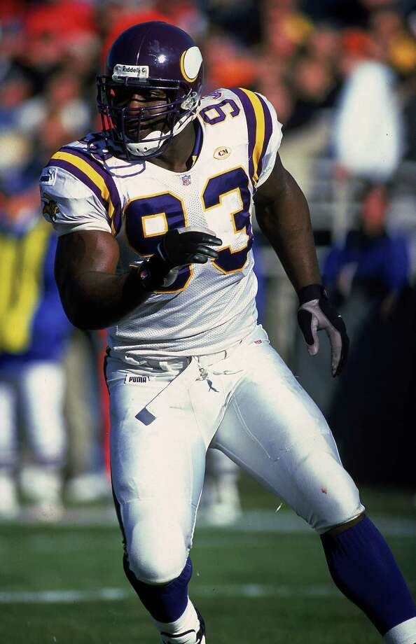 Minnesota Vikings: DE John Randle, Trinity Valley Community College, Texas A&M-Kingsville. Voted to 7 Pro Bowls and named All-Pro 6 times, Randle recorded 8 straight seasons with 10 or more sacks, finishing with 137½ for his career.  PHOTO: Randle runs down field during a game against the Chicago Bears at the Soldier Field in Chicago on Nov. 14, 1999. Photo: Jonathan Daniel, Getty Images / Getty Images North America