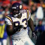 Minnesota Vikings: DE John Randle, Trinity Valley Community College, Texas A&M-Kingsville. Voted to 7 Pro Bowls and named All-Pro 6 times, Randle recorded 8 straight seasons with 10 or more sacks, finishing with 137½ for his career.  PHOTO: Randle runs down field during a game against the Chicago Bears at the Soldier Field in Chicago on Nov. 14, 1999.