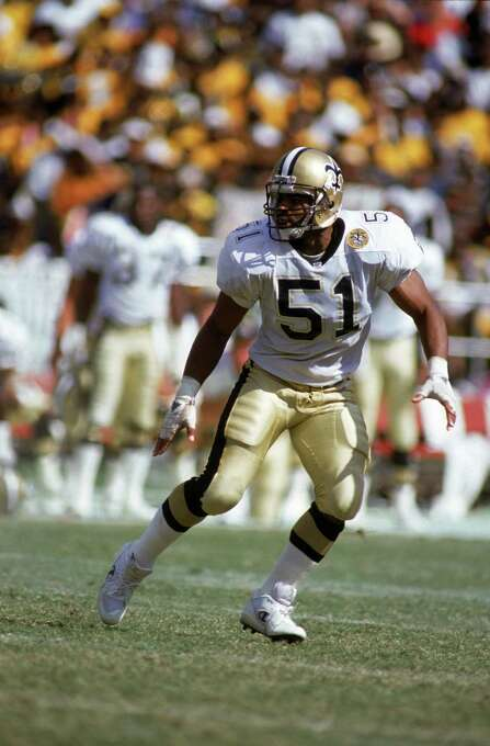 New Orleans Saints: LB Sam Mills, Montclair State. The 5-time Pro Bowler and All-Pro was undersized at 5-foot-9 but started 173 career games, starring in New Orleans from 1986-94 before wrapping up his career with three stellar seasons in Carolina.  PHOTO: Mills runs downfield during a 1990 NFL game against the Atlanta Falcons at The Superdome in New Orleans. Photo: Jim Gund, Getty Images / 1990 Getty Images