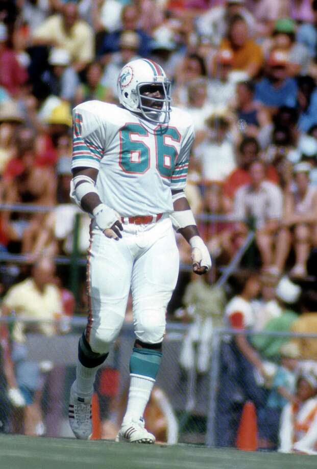 Miami Dolphins (tie): G Larry Little, Bethune-Cookman. Little played a dozen seasons in Miami after 2 in San Diego. The 5-time Pro Bowler and 5-time All-Pro was inducted into the Hall of Fame in 1993.   PHOTO: Little looks on against the Kansas City Chiefs during a game at Arrowhead Stadium on Sept. 17, 1972, in Kansas City, Mo. Photo: Focus On Sport, Getty Images / 1972 Focus on Sport