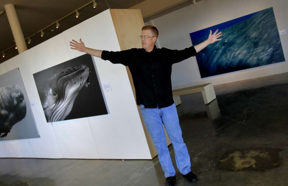Bryant Austin describes an encounter with a whale on one of his photographic adventures. Bryant Austin has photographed whales close up and his intimate portraits are on display at the Museum of Monterey, Calif.