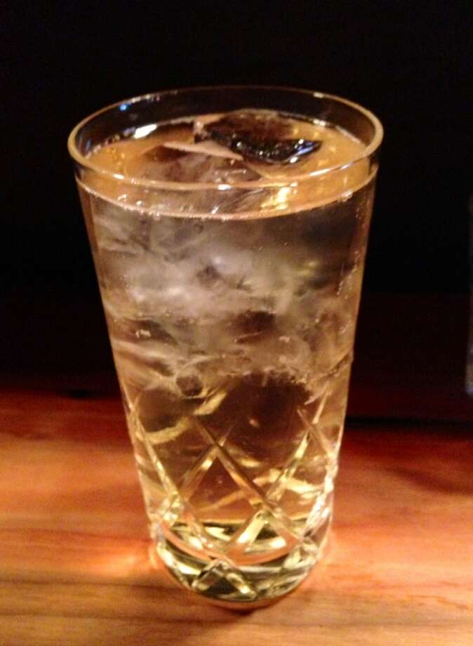 Bourbon and soda at Ramen Shop in Oakland