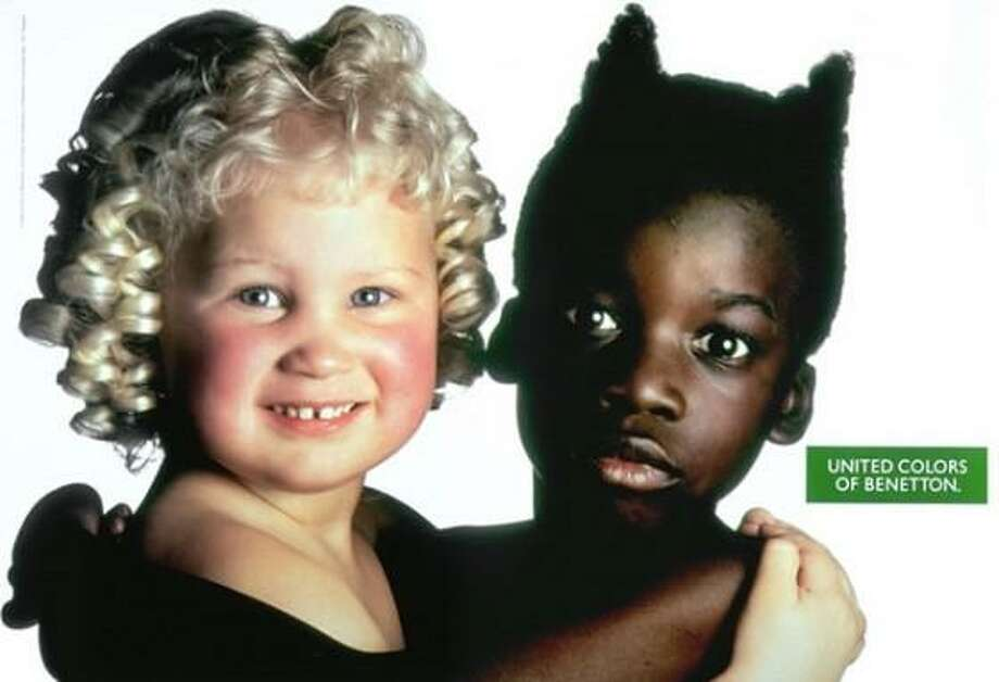 Benetton has created some of the most controversial ads in the fashion world. This one depicting a blond angelic child and a black devilish child was meant to promote harmony and understanding but critics said it endorsed racial stereotypes. Photo: Benetton