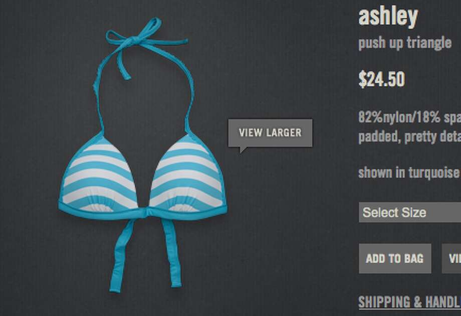 In 2011, Abercrombie Kids included pillowy padding in its bikini tops for kids ages 8 to 14. The clothing retailer even went as far to call it a push-up triangle top. Photo: Abercrombie Kids