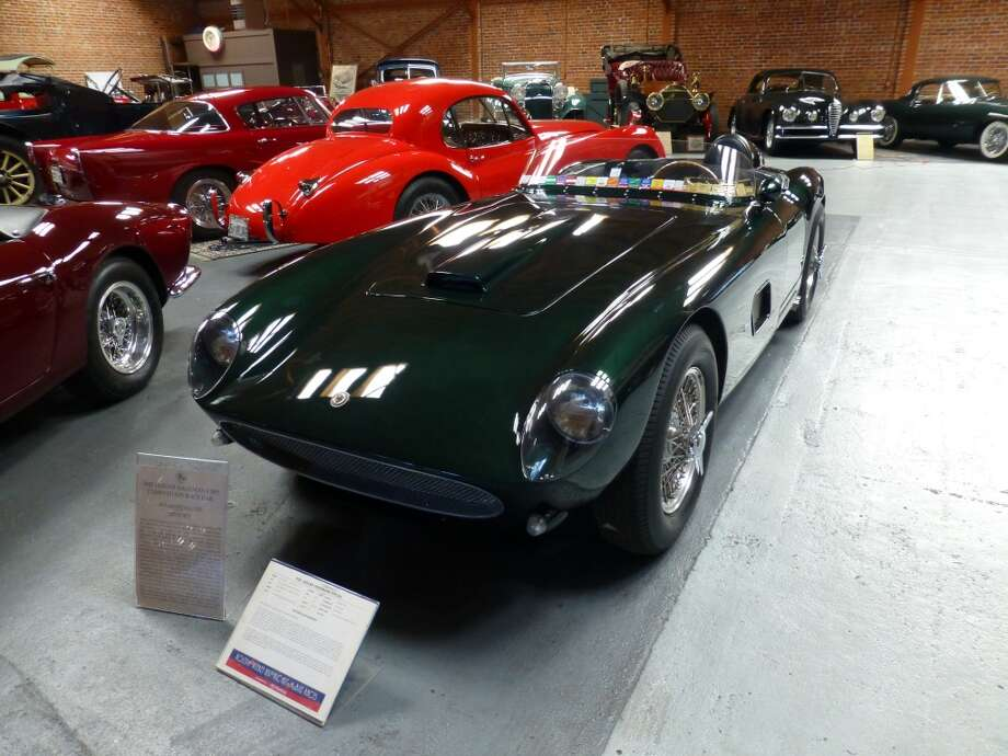 Ron Laurie\'s Hagemann Jaguar Special, a car that was built in 1955 in San Leandro, Calif., using a tube frame inspired by the Jaguar C-Type. It\'s powered by a 3.4-liter Jaguar engine. To its rear is Laurie\'s 1952 Jaguar with a Chevrolet racing engine.