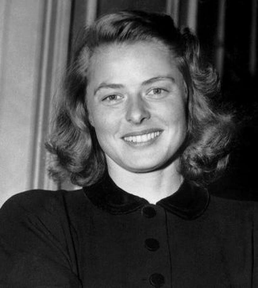 Ingrid Bergman, a movie star with no makeup.