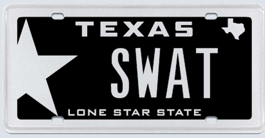 "What the applicant:  ""SWAT -- South West Alief Texas. This meaning is part of the area of Houston that we live in."" Photo: MyPlates.com"