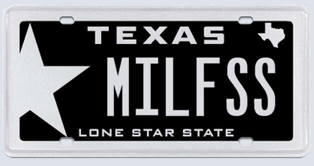 """MILF as in Millennium Falcon. I can take the space out and just put MILFSS if that would down the confusion. I am also a Texas native, and a veteran, therefore I know that you are not one to try to pull wool over your eyes, being Texan yourself."" Photo: MyPlates.com"