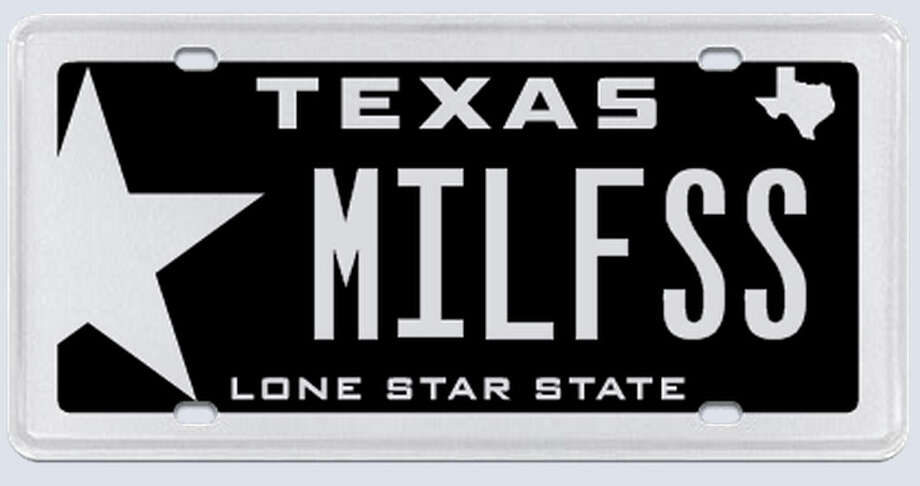"What the applicant:  ""MILF as in Millennium Falcon. I can take the space out and just put MILFSS if that would down the confusion. I am also a Texas native, and a veteran, therefore I know that you are not one to try to pull wool over your eyes, being Texan yourself."" Photo: MyPlates.com"