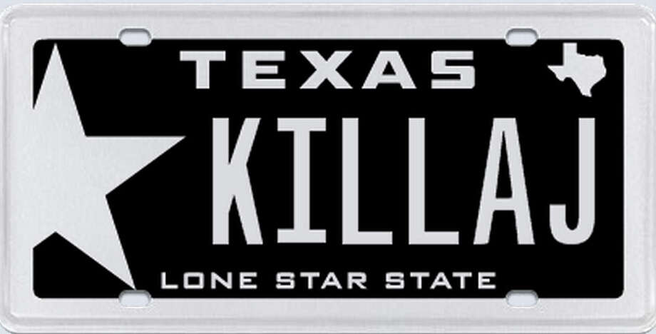 """The plates are intended to be placed on a 1990 Ford Mustang GT that has been repaired and remodeled, which is a hobby of the intended recipient (of this car.) It is something he has put a lot of hard work into, hence the name 'KILLA J.'"" Photo: MyPlates.com"