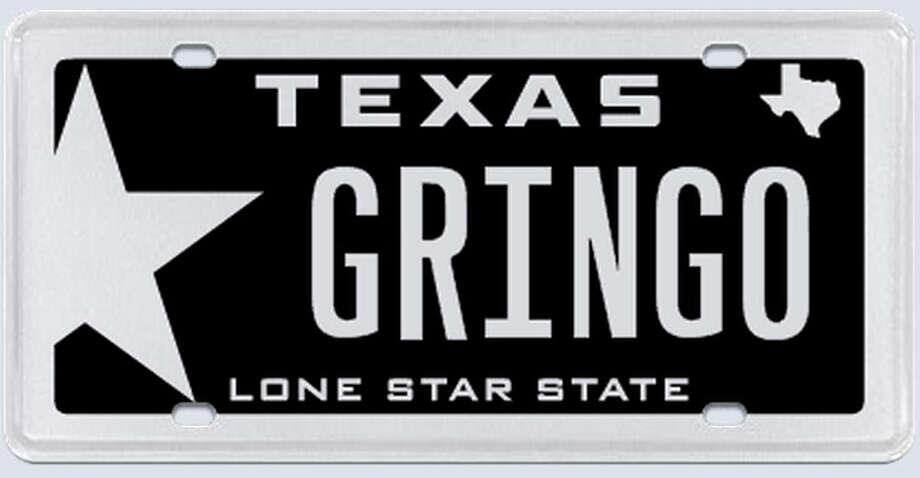 "What the applicant:  ""Gringo is just a way of saying white boy or white guy. I have never taken offense to this ever, nor have I seen any other white person taking offense to it."" Photo: MyPlates.com"