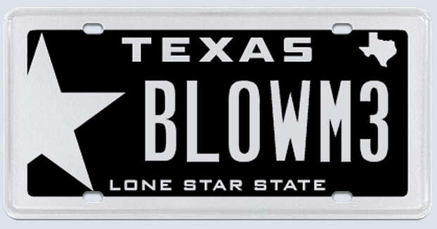 """What the applicant:""""There are two parts to this plate. 'Blow': I have a 700 horse power 'blown motor.' Two: It is going on a BMW M3, hence the 'M3' at the end. Not to misconstrued as 'ME.''"""" Photo: MyPlates.com"""