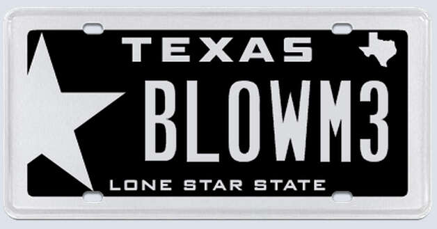 """There are two parts to this plate. 'Blow': I have a 700 horse power 'blown motor.' Two: It is going on a BMW M3, hence the 'M3' at the end. Not to misconstrued as 'ME.''"" Photo: MyPlates.com"