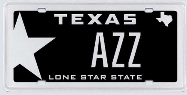 """What the applicant:""""AZZ plates is based on AZZ being the Australian Stock Exchange ticker codes for Antares Energy Limited, which is a Houston-based Eagle Ford Shale focused exploration and production company."""" Photo: MyPlates.com"""