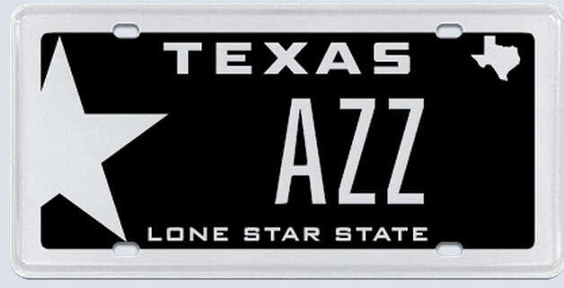 """AZZ plates is based on AZZ being the Australian Stock Exchange ticker codes for Antares Energy Limited, which is a Houston-based Eagle Ford Shale focused exploration and production company."" Photo: MyPlates.com"