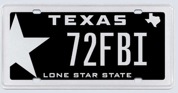 """What the applicant:""""I am a high school and college football official and a member of TASO. The meaning of my plate selection is to represent my jersey #72 as a football official along with the FBI, which is my official crew's name. It stands for official 'FootBall Interpreters.'"""" Photo: MyPlates.com"""
