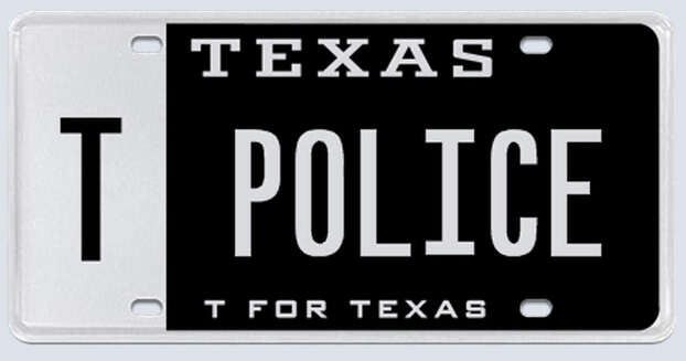 """What the applicant:""""I know for a fact that the regular 6-digit """"POLICE"""" license plate exists and is issued by the state, so I fail to understand the reasoning why TPOLICE cannot be issued to a law enforcement officer."""" Photo: MyPlates.com"""