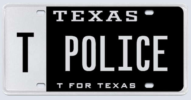 """I know for a fact that the regular 6-digit ""POLICE"" license plate exists and is issued by the state, so I fail to understand the reasoning why TPOLICE cannot be issued to a law enforcement officer."" Photo: MyPlates.com"