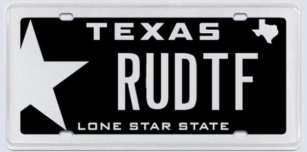 These are plates rejected by the Texas Department of Motor Vehicles in March 2013. Photo: MyPlates.com