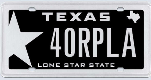 This plate was rejected by the Texas Department of Motor Vehicles in March 2013. Photo: MyPlates.com