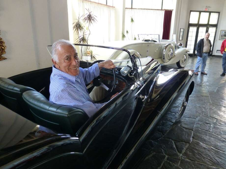Robert Cory in his 1937 Delahaye.
