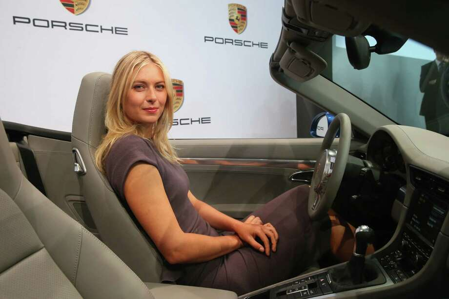 Tennis player Maria Sharapova was unveiled as car manufacturer Porsche's new brand ambassador. Photo: Alexander Hassenstein, Getty Images / 2013 Getty Images
