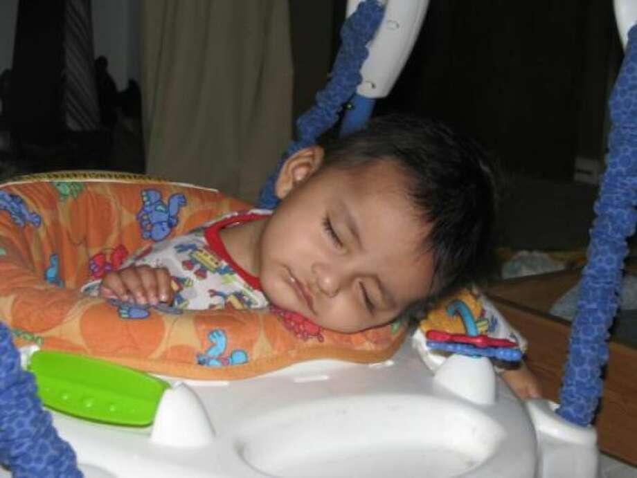 Xavier who is six-months literally bounced himself to sleep. Photo: Chichin23, Chron.com