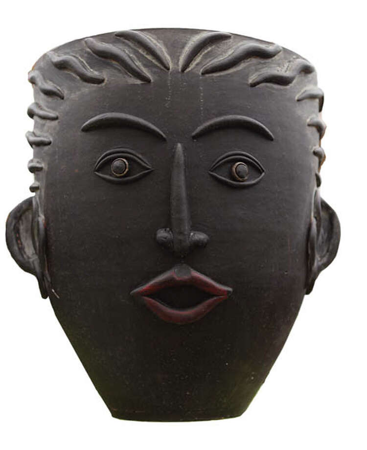 Ceramic Planter Human-face ceramic planters add character to any garden. $59.99 at Faddegon's Nursery.