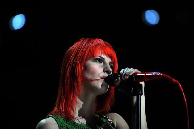 Hailey, from the rock band Paramore, performs at Madison Square Garden in New York, Dec. 10, 2010. Justin Bieber, Katy Perry and Enrique Iglesias were among some of the top artists that turned out for the Z100 Jingle Ball, a Christmas special at the garden. (Richard Perry/The New York Times) Photo: RICHARD PERRY, STF / NYTNS