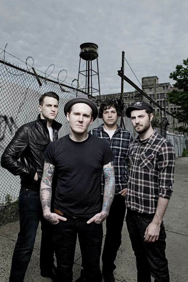 Gaslight Anthem: Alex Levine, from left, Brian Fallon, Ben Horowitz and Alex Rosamilla Photo: Â Ashley Maile, Photographer / handout