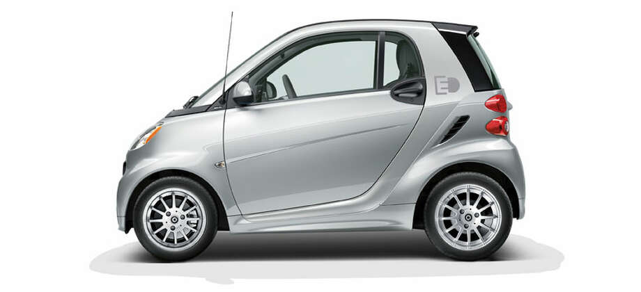 Car:2013 smart fortwo EV coupeMPGe: 107Base price: $25,000 Photo: Handout