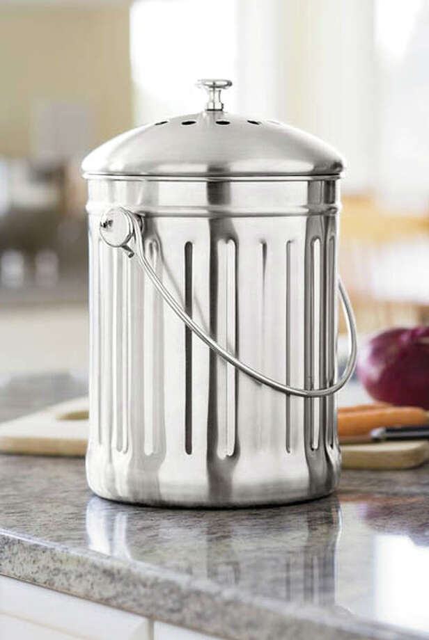 1. Stainless-steel compost crock. $45,  gardners.com