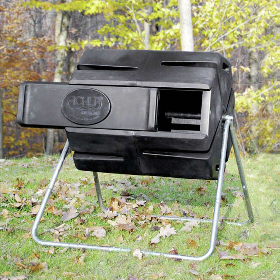 3. Achla Compost Tumbler made from recycled plastic and made in the USA. $217,  EarthEasy.com