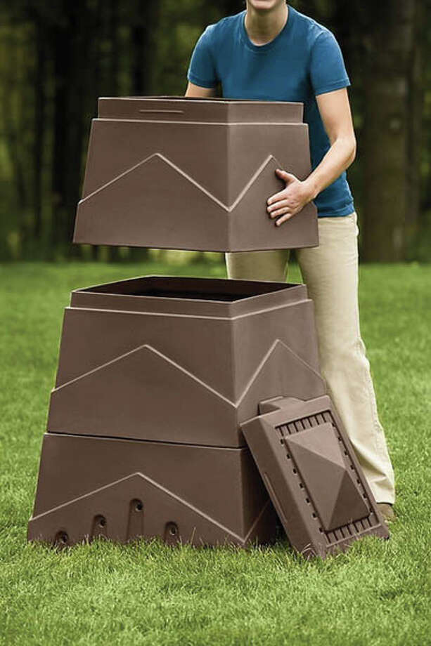 5. Eco Stack Composter made from recycled plastic. $100,  gardners.com