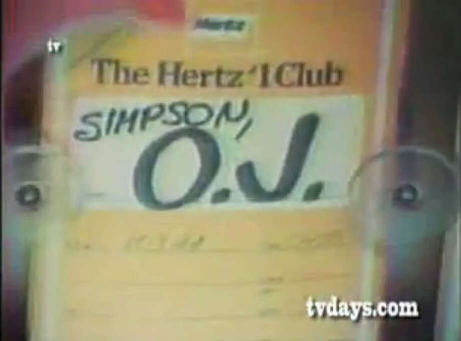 O.J. Simpson starred in a commercial for Hertz. Photo: YouTube