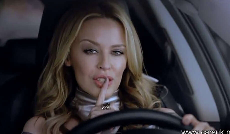 Kylie Minogue has been the face for Lexus and Volkswagen. Photo: YouTube