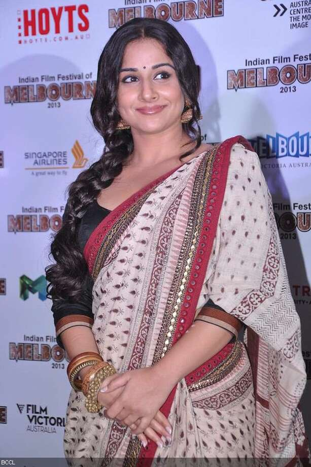 Vidya Balan (last month at the Indian Film Festival of Melbourne)