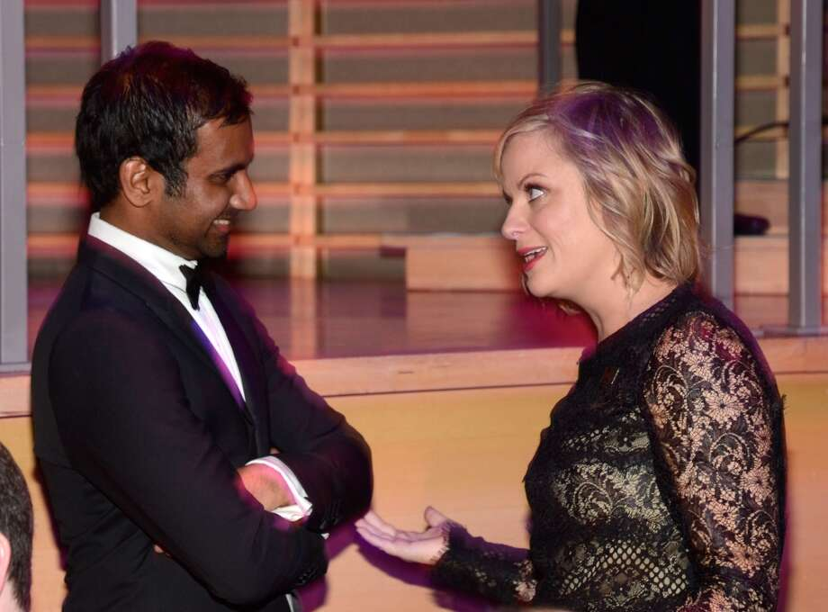 NEW YORK, NY - APRIL 23:  Amy Poehler and Aziz Ansari attend TIME 100 Gala, TIME\'S 100 Most Influential People In The World at Jazz at Lincoln Center on April 23, 2013 in New York City.  (Photo by Kevin Mazur/WireImage for TIME)