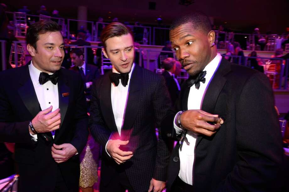 NEW YORK, NY - APRIL 23:  Jimmy Fallon, Justin Timberlake and Frank Ocean attend TIME 100 Gala, TIME\'S 100 Most Influential People In The World at Jazz at Lincoln Center on April 23, 2013 in New York City.  (Photo by Kevin Mazur/WireImage for TIME)