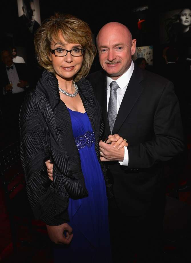 NEW YORK, NY - APRIL 23:  Former House representative Gabrielle Giffords and former astronaut Mark Kelly attend the TIME 100 Gala, TIME\'S 100 Most Influential People In The World reception at Jazz at Lincoln Center on April 23, 2013 in New York City.  (Photo by Larry Busacca/Getty Images for TIME)