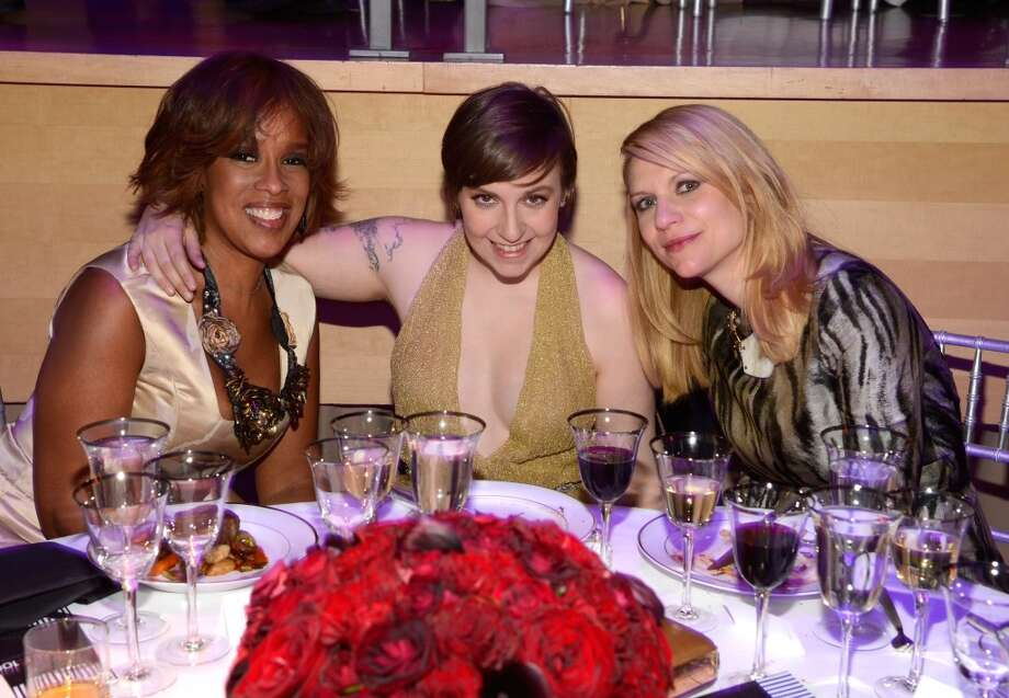 NEW YORK, NY - APRIL 23:  Gayle King, Lena Dunham and Claire Danes attend  TIME 100 Gala, TIME\'S 100 Most Influential People In The World at Jazz at Lincoln Center on April 23, 2013 in New York City.  (Photo by Kevin Mazur/WireImage for TIME)