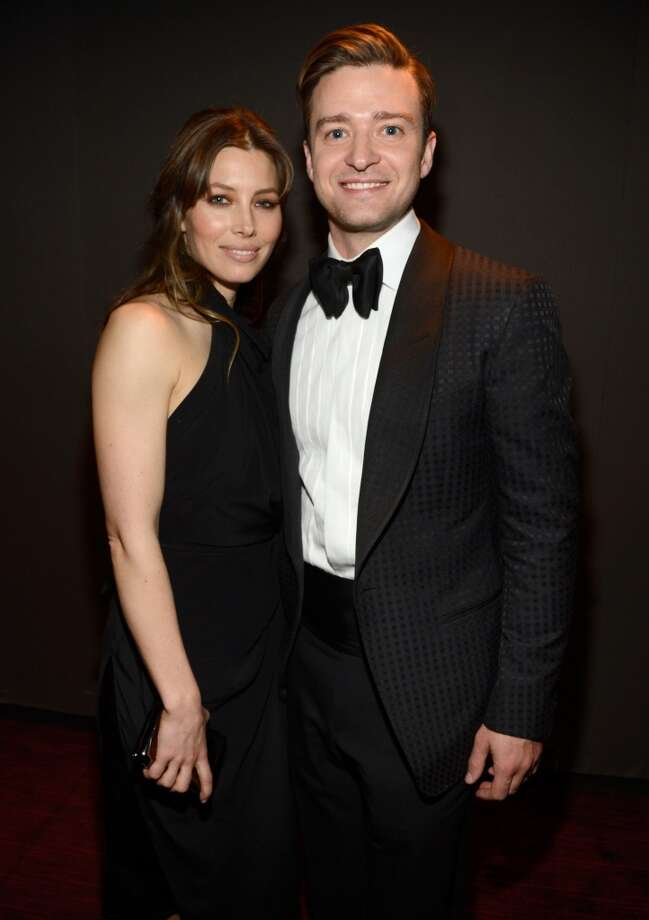 NEW YORK, NY - APRIL 23:  Jessica Biel and Justin Timberlake attend TIME 100 Gala, TIME\'S 100 Most Influential People In The World at Jazz at Lincoln Center on April 23, 2013 in New York City.  (Photo by Kevin Mazur/WireImage for TIME)