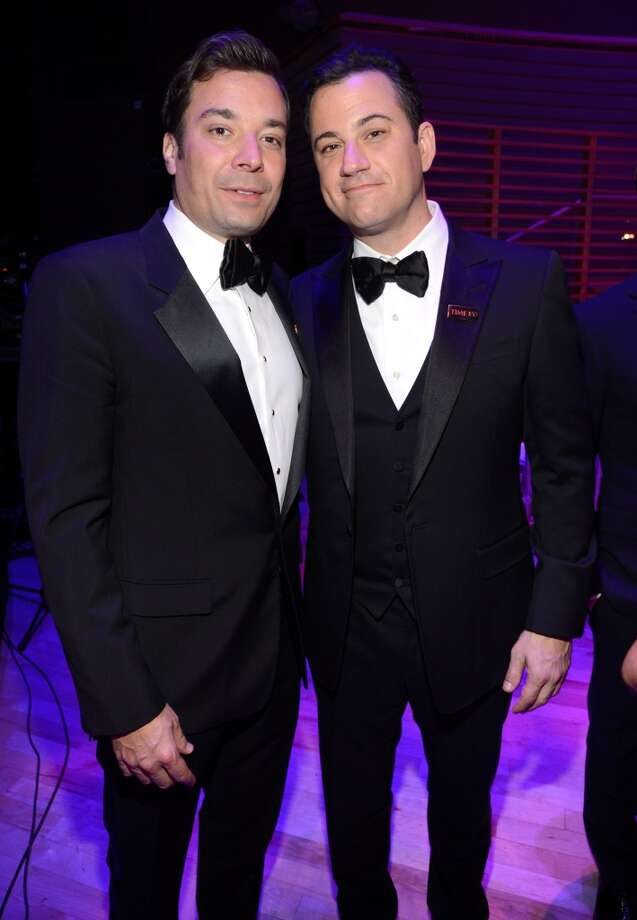 NEW YORK, NY - APRIL 23:  Jimmy Fallon and Justin Timberlake attend TIME 100 Gala, TIME\'S 100 Most Influential People In The World at Jazz at Lincoln Center on April 23, 2013 in New York City.  (Photo by Kevin Mazur/WireImage for TIME)
