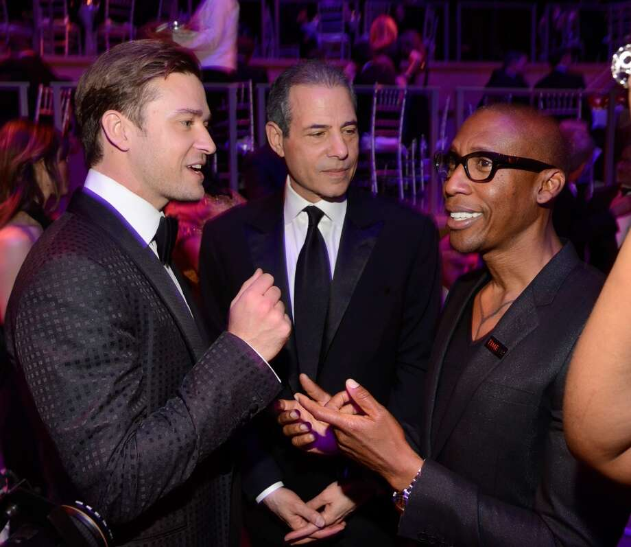 NEW YORK, NY - APRIL 23:  Justin Timberlake, TIME managing editor Rick Stengel and Raphael Saadiq attend TIME 100 Gala, TIME\'S 100 Most Influential People In The World at Jazz at Lincoln Center on April 23, 2013 in New York City.  (Photo by Kevin Mazur/WireImage for TIME)