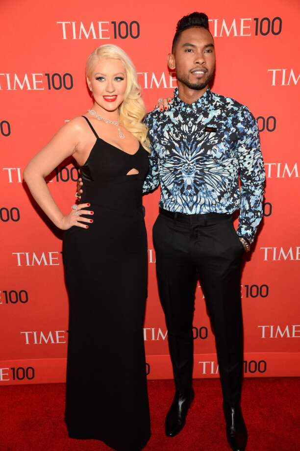 NEW YORK, NY - APRIL 23:  Christina Aguilera and Miguel attend TIME 100 Gala, TIME\'S 100 Most Influential People In The World at Jazz at Lincoln Center on April 23, 2013 in New York City.  (Photo by Kevin Mazur/WireImage for TIME)