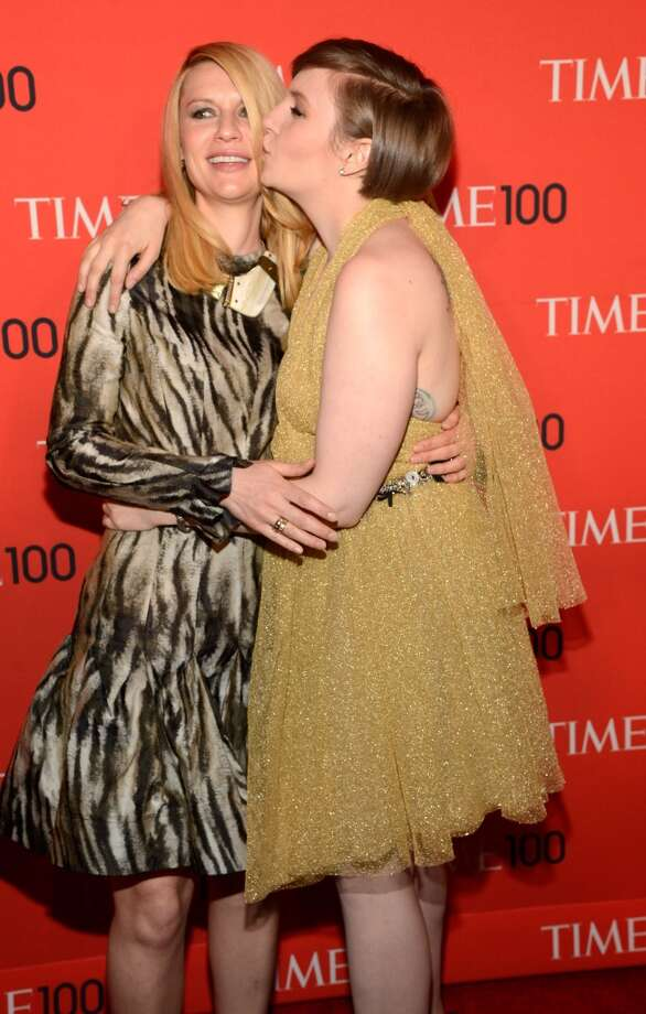 NEW YORK, NY - APRIL 23:  Claire Danes and Lena Dunham attend TIME 100 Gala, TIME\'S 100 Most Influential People In The World at Jazz at Lincoln Center on April 23, 2013 in New York City.  (Photo by Kevin Mazur/WireImage for TIME)