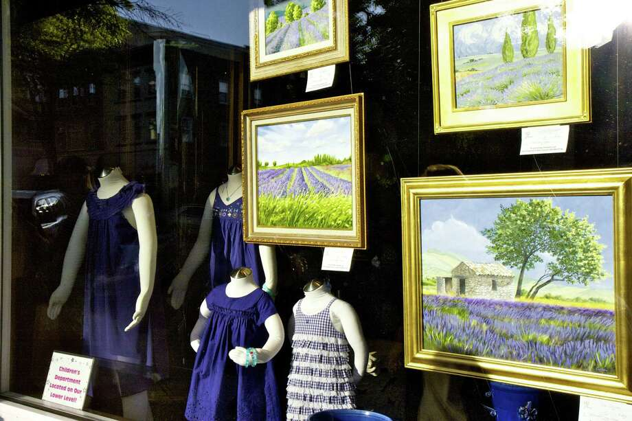 Art work will be on display in shop windows along Greenwich Avenue as part of Art to the Avenue, a month-long celebration that kicks off with an opening night celebration on Thursday, May 2, 5:30-8 p.m. Photo: Contributed Photo